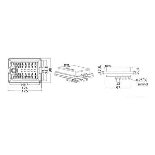 14 100 65 - blade fuse holder  waterproof