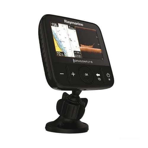 """Dragonfly RAYMARINE - Display DownVision""""! da 5"""" e 7"""" con ecoscandaglio a doppio canale CHIRP DownVision""""! e Sonar, GPS e chartplotter"""