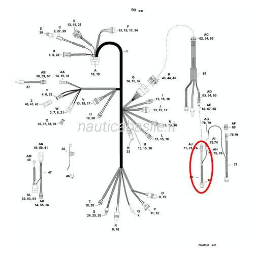 Cavo Elettrico Evinrude Johnson BRP